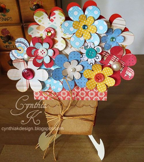 Cynthia K - Flowerpot shaped card