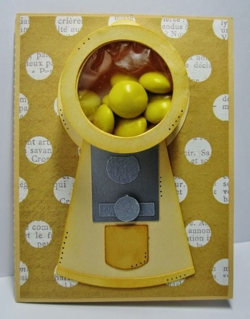 Gumball machine treat cup - Debbie Fisher