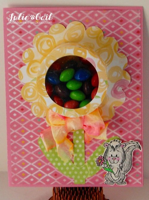 Flower treat cup card - Julie Odil