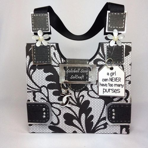 Purse box shaped card - Solisbell Sosa