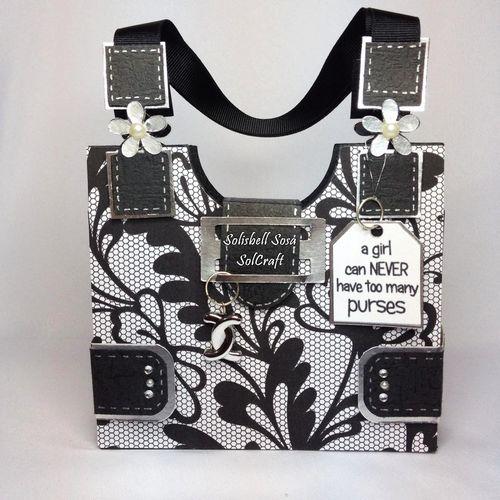 Purse box shaped card - Solisbell Sosa