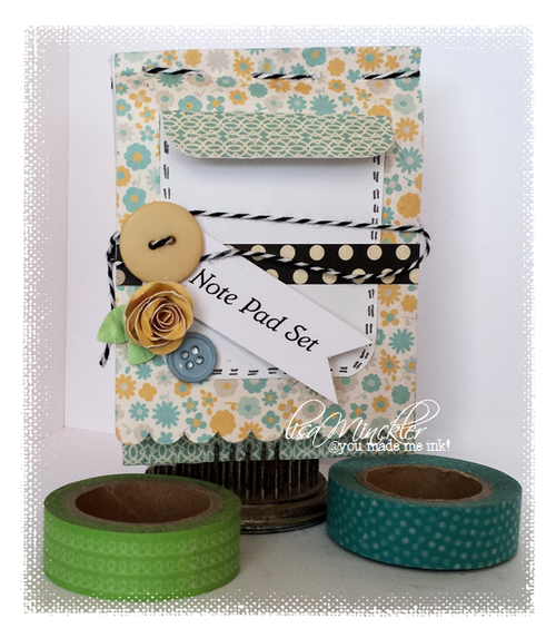 Mini note pad and card set - Lisa Minckler