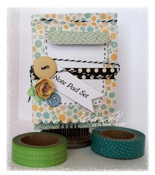 Mini note pad and card set - Lisa Minckler