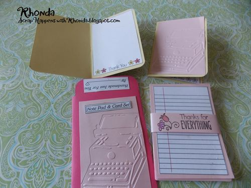 Mini note pad and card set - Rhonda Emery