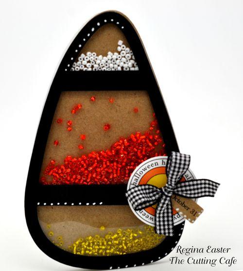Candy corn shaker