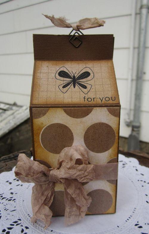 Plain milk carton - Debbie Fisher