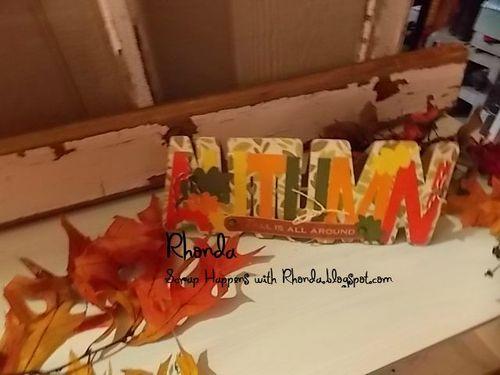 Autumn word shaped card - rhonda emery