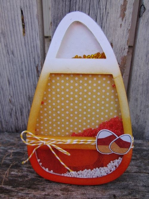 Candy corn shaker - Debbie Fisher
