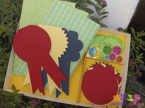 #1 ribbon shaped card set - Doris Molina