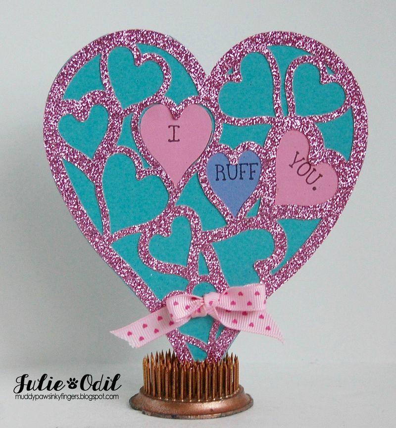 Heart lace shaped card - Julie Odil