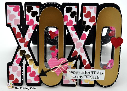efeaaf2cb58f8 The Cutting Cafe   XOXO WORD SHAPED CARD - TEMPLATE AND CUTTING FILE