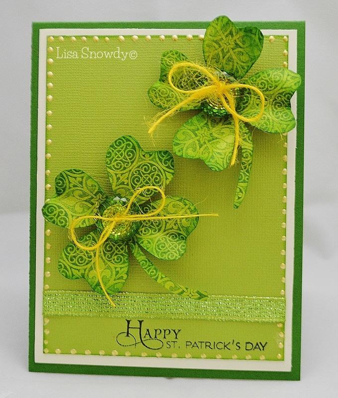 4 leaf clover shaped card - lisa snowdy