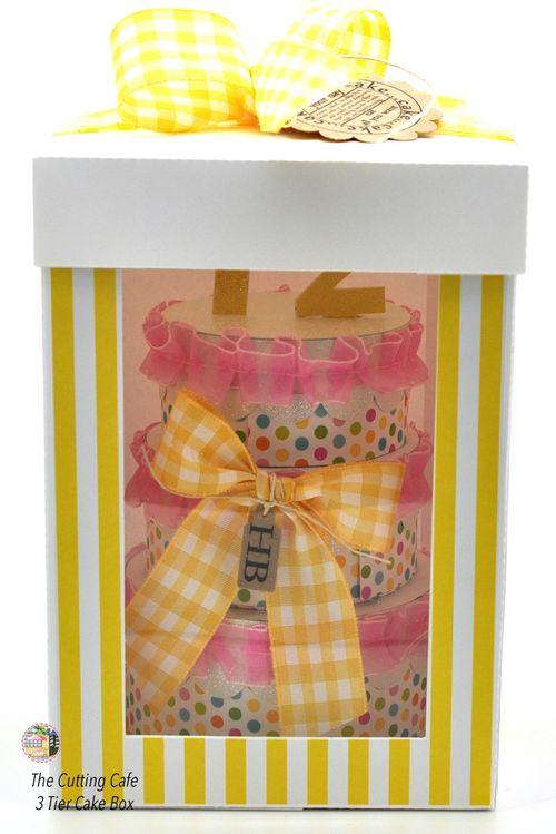 3 tier cake box