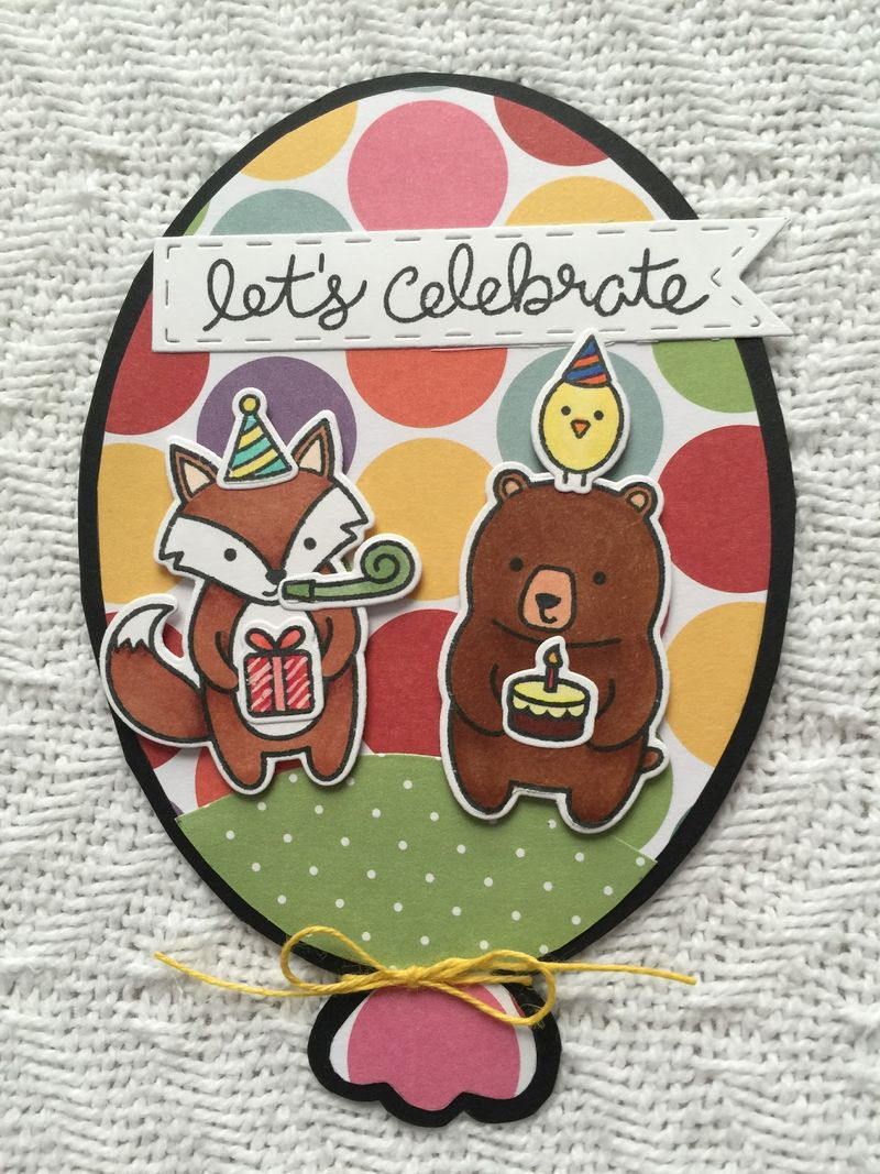Balloon shaped card - jeri thomas