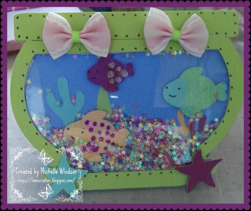 Michelle Windsor - fishbowl shaker card