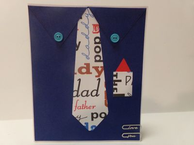 Shirt and tie shaped card - Audrey Long