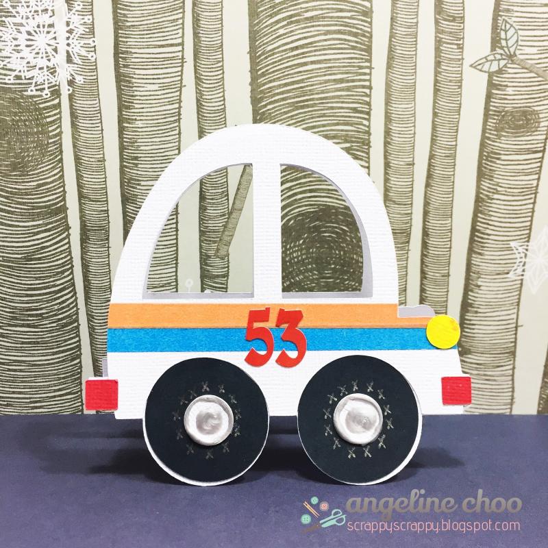 Funny car and treat box - angeline choo