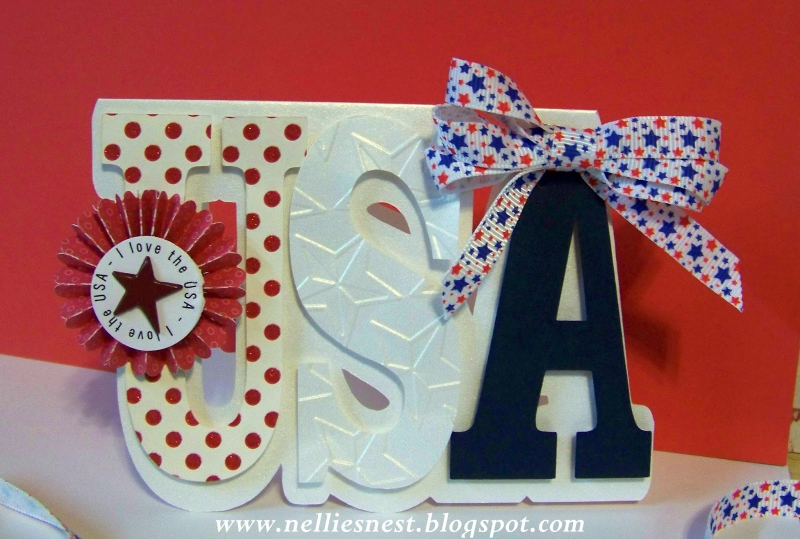 Usa word shaped card -diane hover