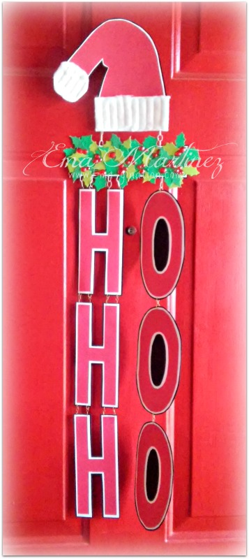 Ema - ho ho ho word shaped card