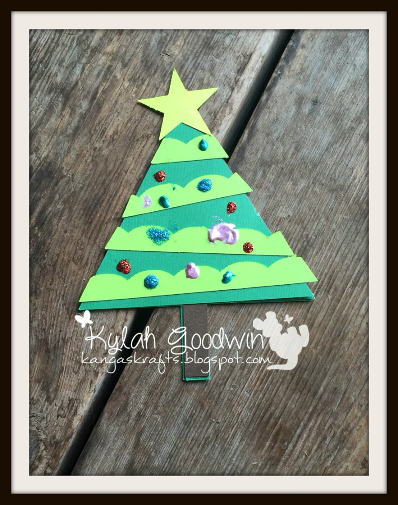 Shaped christmas cards - kylah goodwin