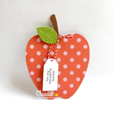 Apple shaped card - claudia