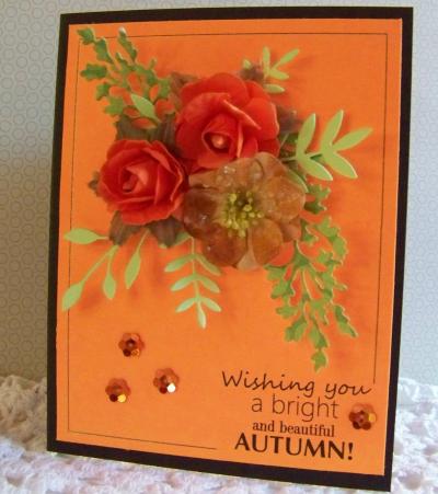 Autumn sentiment card frames - Debbie B.