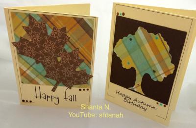 Autumn sentiment card frames - shanta newby