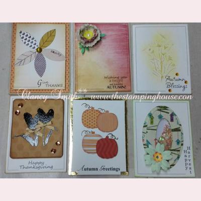 Autumn sentiment card frames - clancy smith