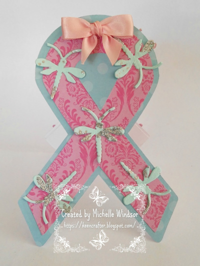 Ribbon shaped card - michelle windsor