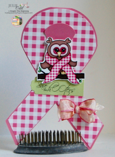 Ribbon shaped card - Julie Odil
