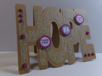 Hope word shaped card - audrey long