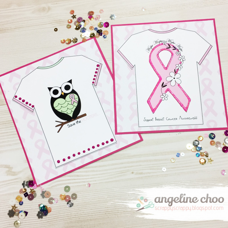 Angeline choo - breast cancer t-shirt set