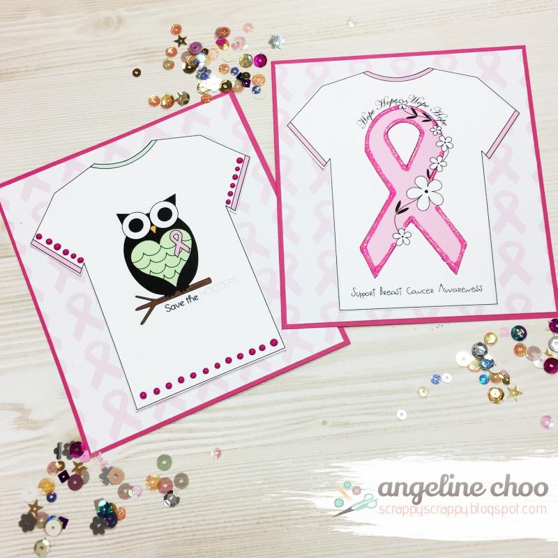 Angeline choo - breast cancer t-shirt set