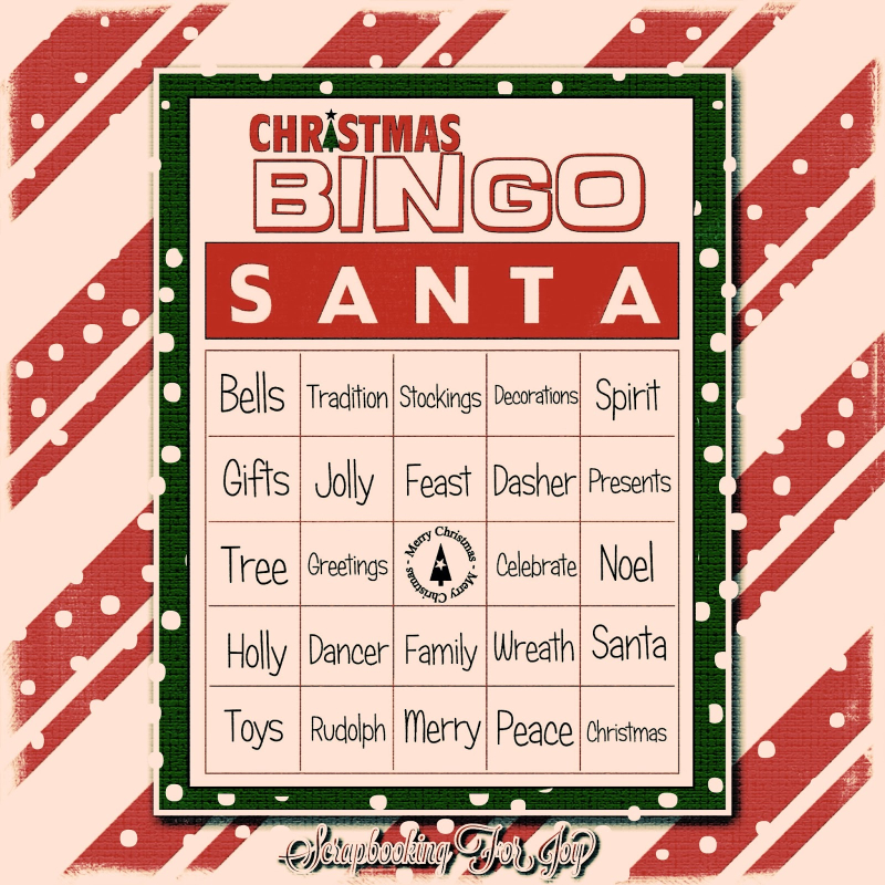Christmas bingo - mono curko