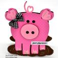 Pig shaped card