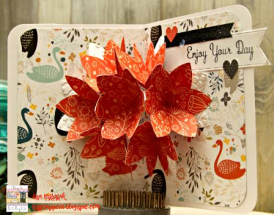Lisa Bzibziak - flower pop up card 1