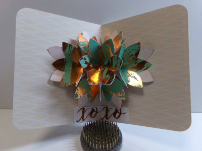 Audrey long - flower pop up card 1