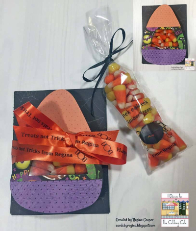 Halloween and fall treat cup cards - tina goodwin