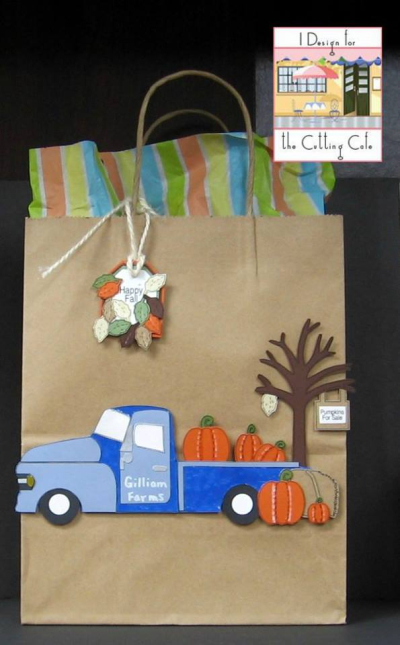 Patti - happy fall scene card