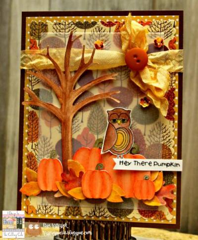 Patti - happy fall scene card