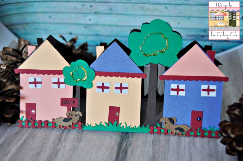 Maria pilar - welcome to the neighborhood scene card