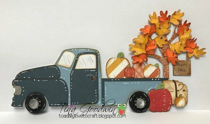 Tina - happy fall scene card