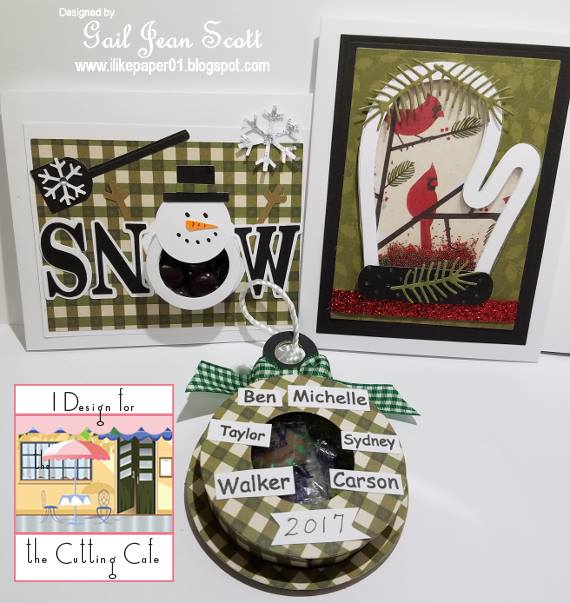 Gail christmas treat cup cards