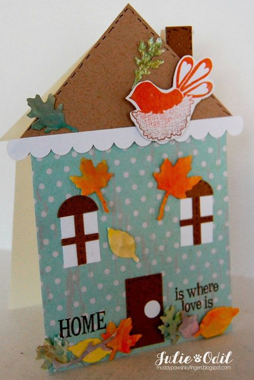 HOME - Julie Odil - House shaped card