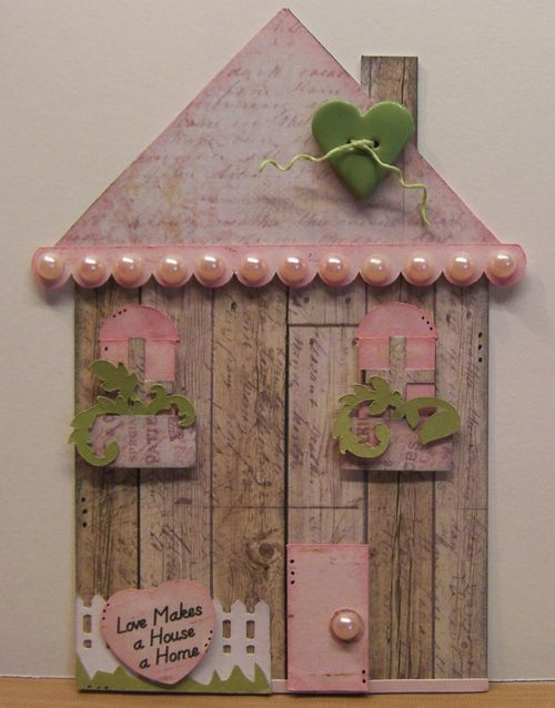 Rhonda Zmikly - House shaped card