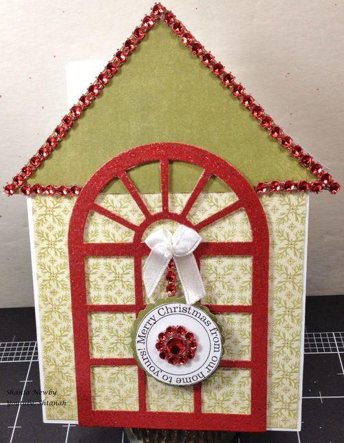 Merry Christmas - Shanta Newby - house shaped card