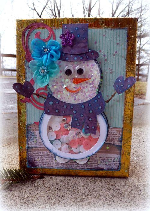 Christmas shape shaker card set - Mitra Pratt