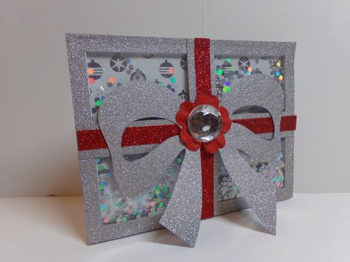 Christmas shape shaker card set -Audrey Long