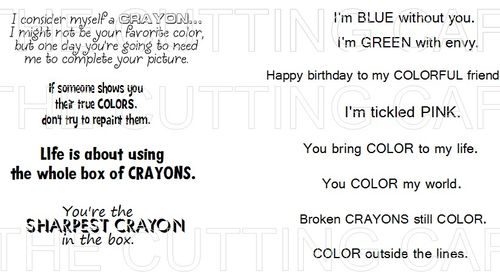 CRAYONS SHAPED