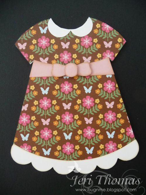 Dress shaped card 2 - Jeri Thomas